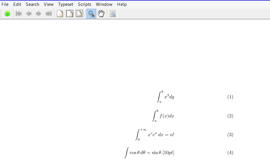 beginning latex : integrals