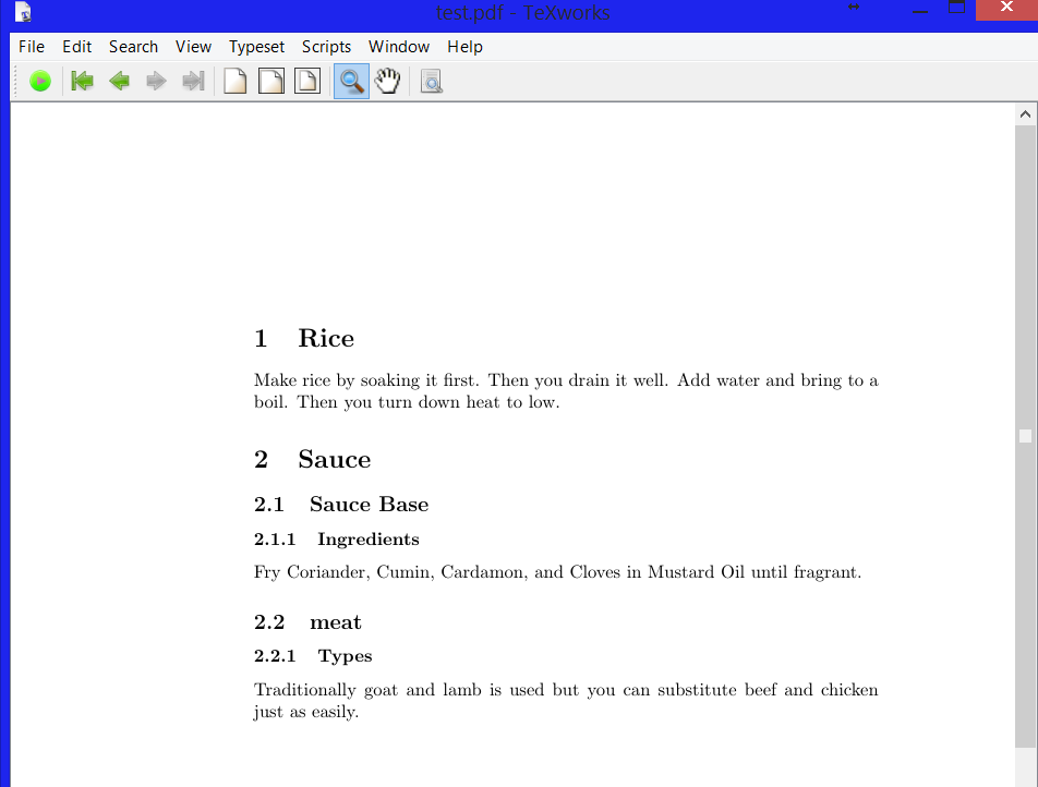 beginning latex : subsections