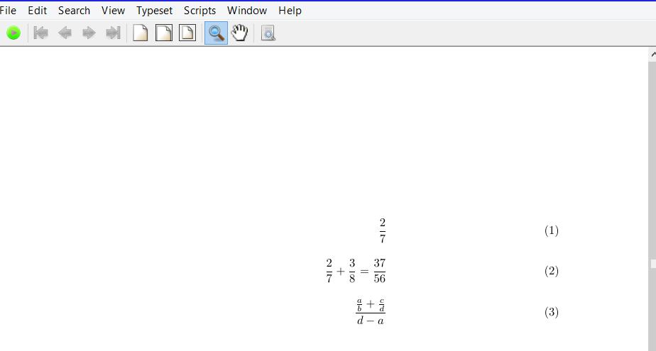 beginning latex : fractions